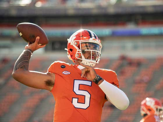 Clemson QB and Football Guy D.J. Uiagalelei Has His Dad Blocked on Twitter So He Doesn't See Posts About How Great He Is