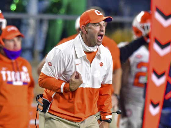 It's Tuesday and Dabo Swinney Is STILL Crying About Clemson's Canceled Game at Florida State Last Week