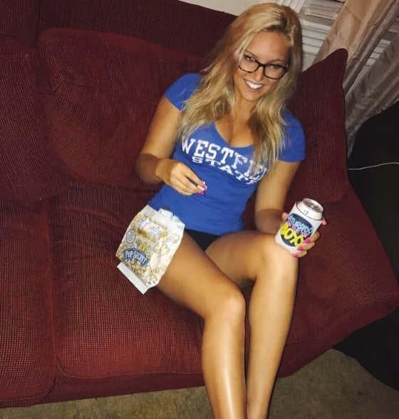 Blonde milf glasses ass