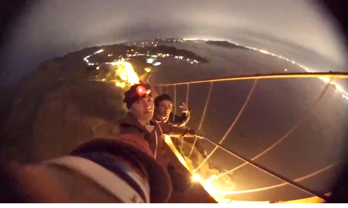 Rowdy Teens Climbing The Golden Gate Bridge Make My