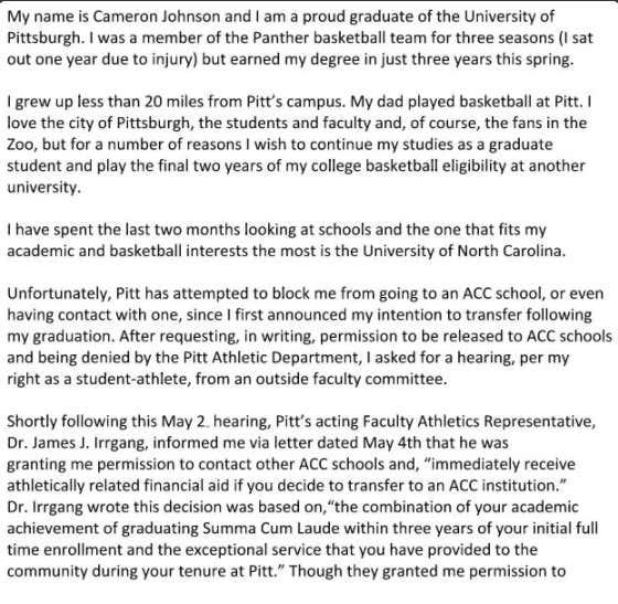 Cameron Johnson Transfers To North Carolina, Puts Pitt And