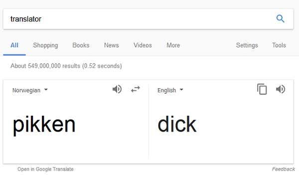 en stor feit Dick