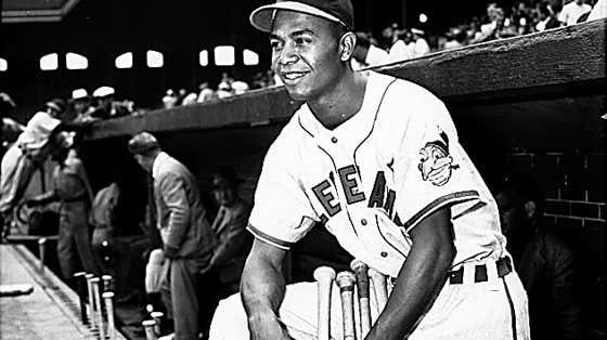 Larry Doby before making his debut with the Cleveland Indians in 1947.