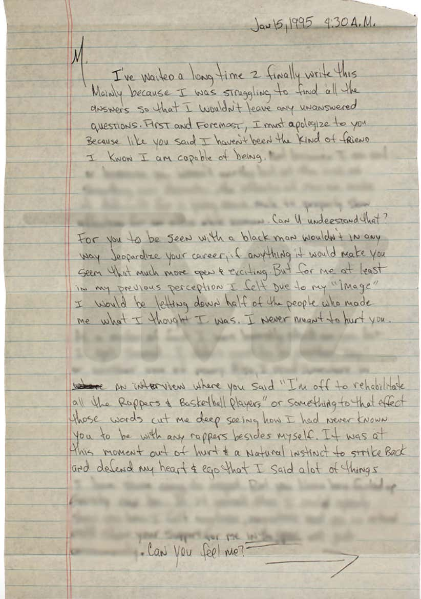 2Pac's 1995 Handwritten Letter To Madonna Breaking Up With Her Is