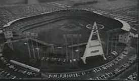 Aerial view of Anaheim Stadium during the 1967 All-Star Game.