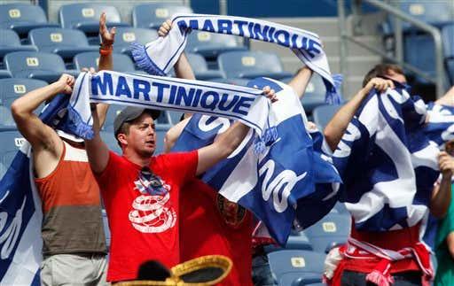 Martinique soccer fans