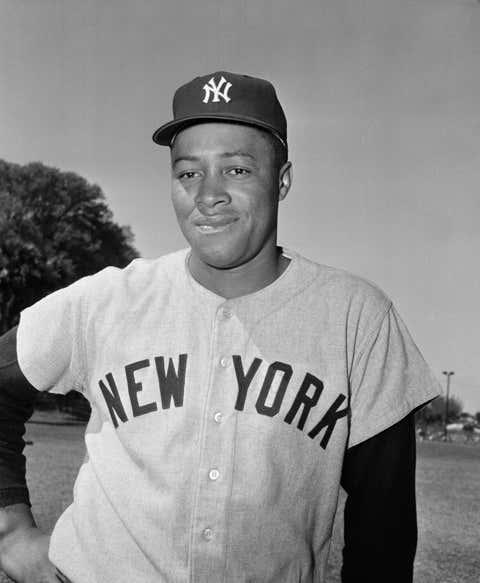New York Yankees Elston Howard April 14, 1955