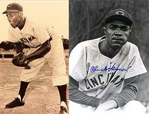 Cincinnati Reds Nino Escalera & Chuck Harmon April 17, 1954