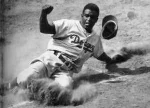 Brooklyn Dodgers Jackie Robinson April 15, 1947