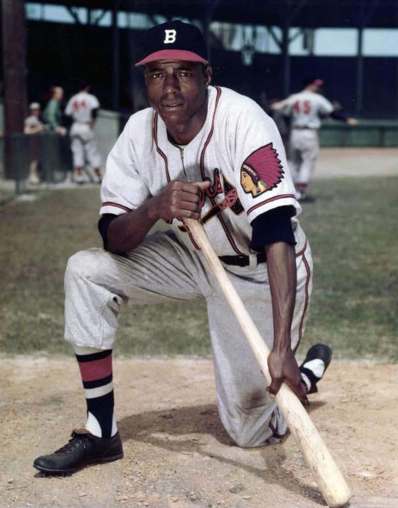 Boston Braves  Sam Jethroe April 18, 1950