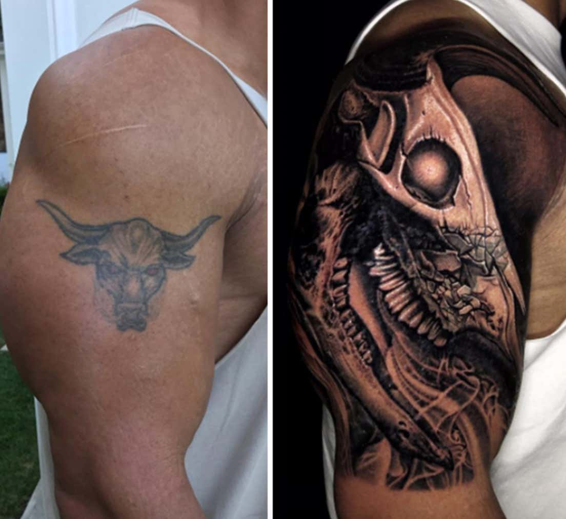 The Rock Covered Up His Famous Bull Tattoo With A Bigger Bull Tattoo