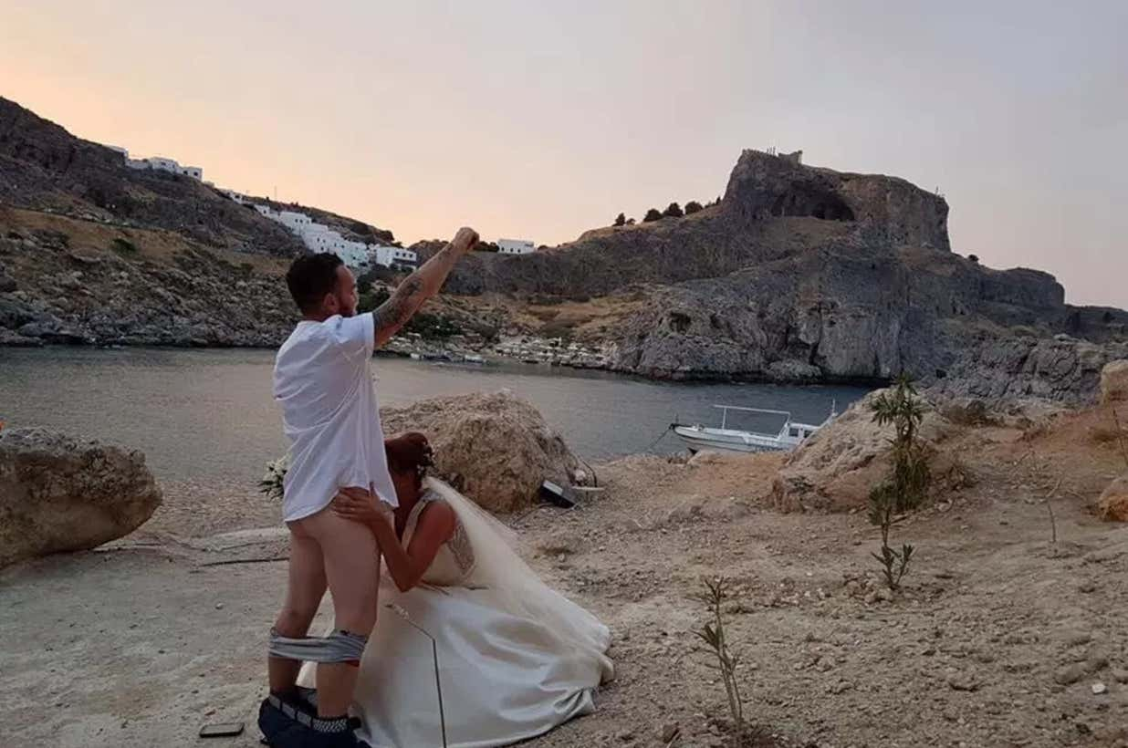 Wedding blowjob