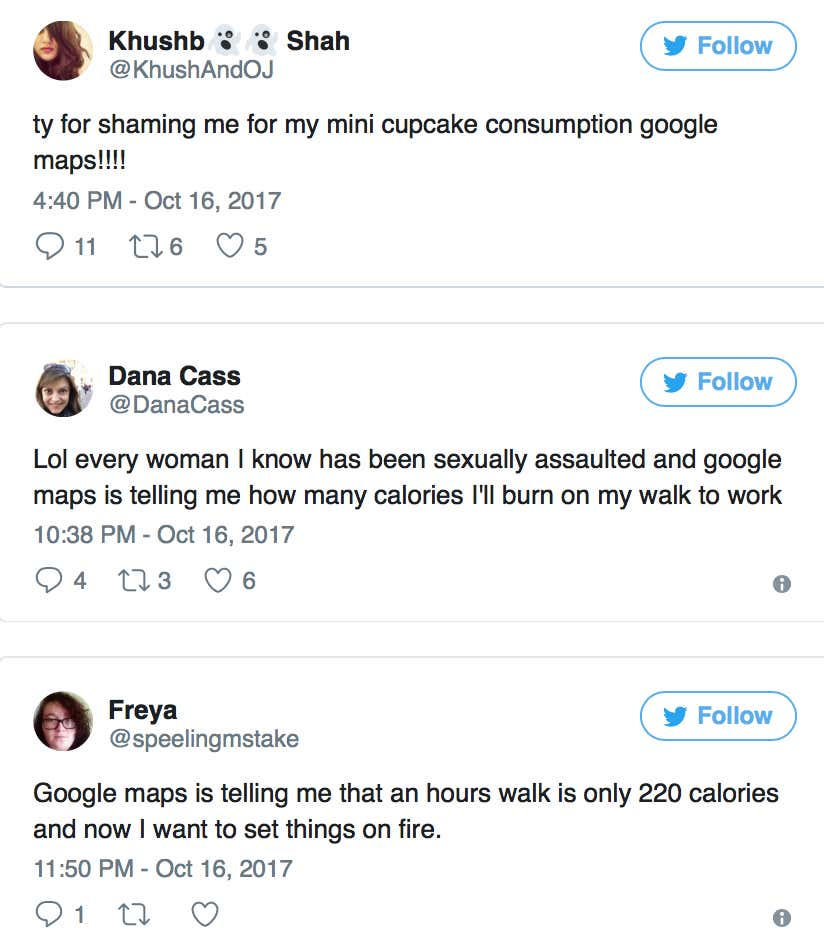 Google Maps Had An Update That Told You How Many Calories A Walk