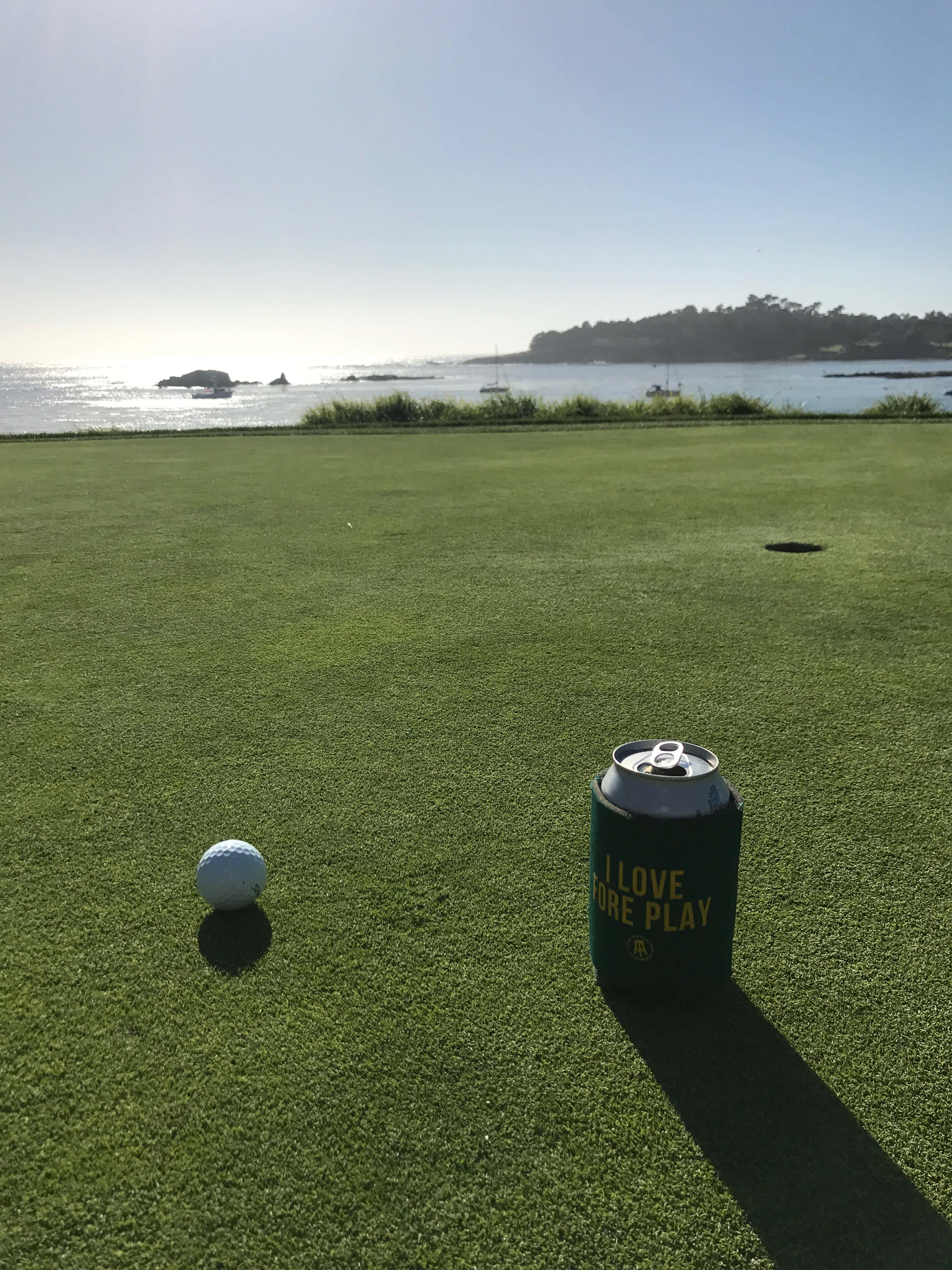 We Actually Played Pebble Twice The First Time Was A Spontaneous Twilight Not Guaranteed To Finish 2 50 Tee In Which 17 And 18 Dark