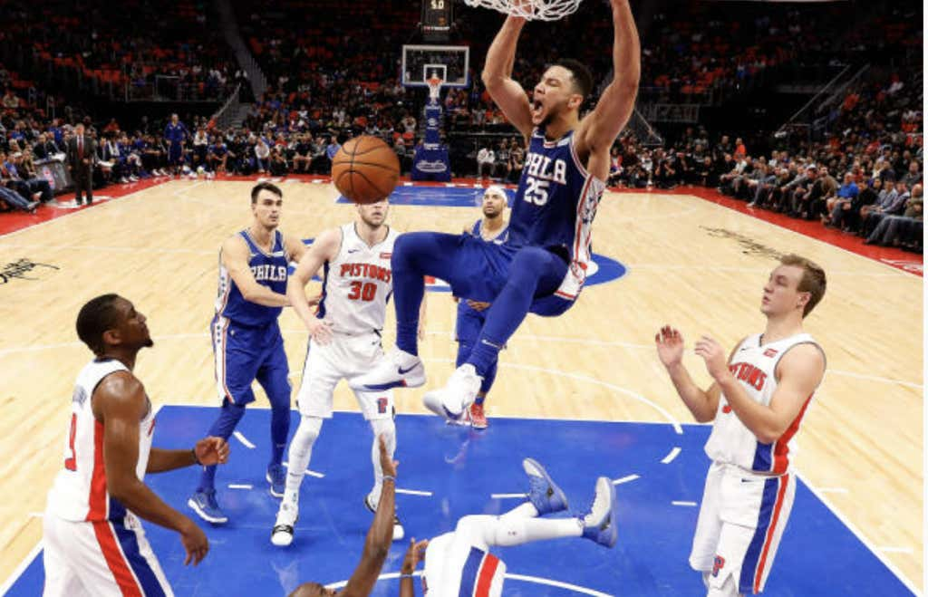 068db797647 Last Night In The NBA  Ben Simmons Is Proving To Be Very Real ...