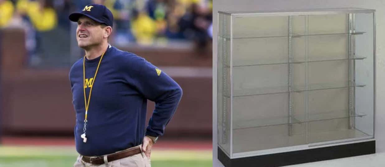 Harbaugh Trophy Case