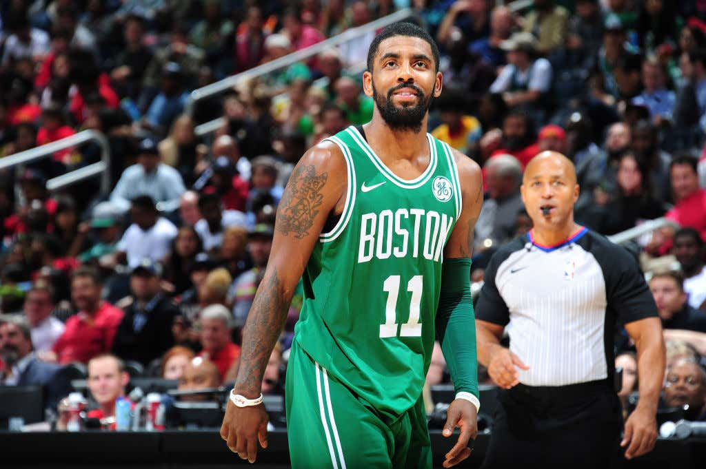 GettyImages 871077042 1024x681 kyrie irving had himself a night as the celtics win their 9th in a