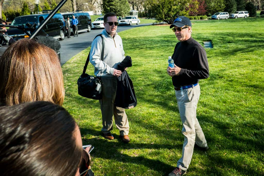 Senator Rand Paul Returns From Golf With President Trump