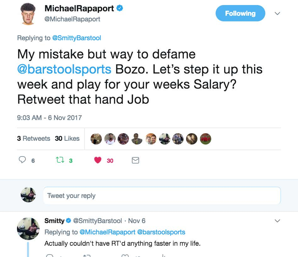 1a4f75f9cd Michael Rapaport Is A Fraudulent Sack Of Shit - Barstool Sports
