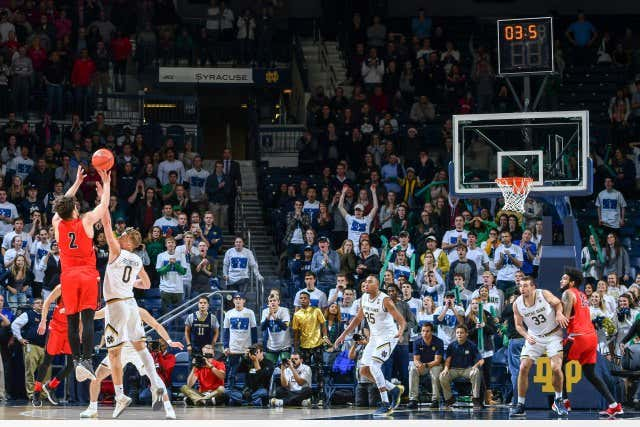 USP NCAA BASKETBALL: BALL STATE AT NOTRE DAME S BKC NDAM BST USA IN
