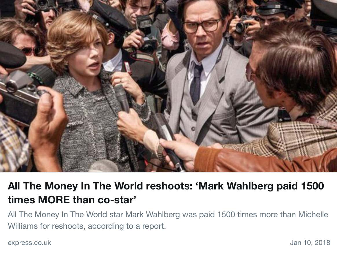 Mark Wahlberg Is Getting Crucified For Being Paid Money To Do A Job ... 2def6b92ed99