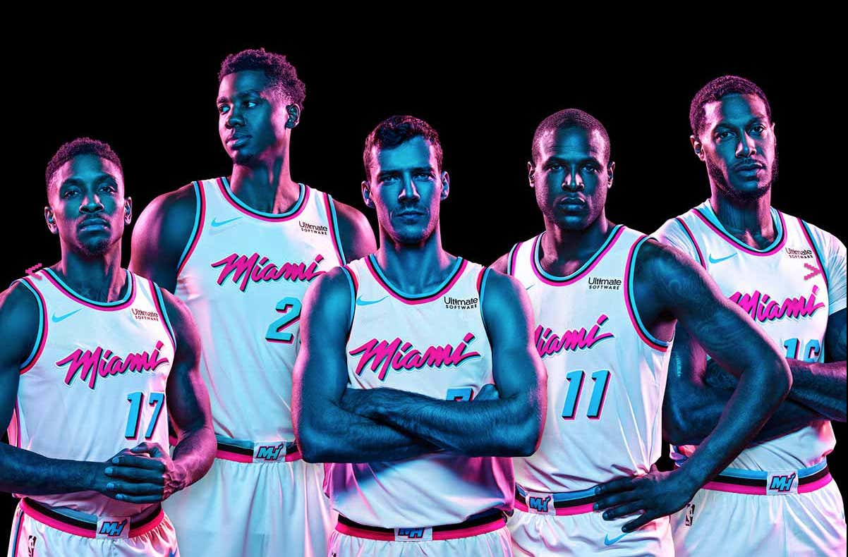 32e2742c0ad The Miami Heat Unveiled Their Vice Alternate Jerseys Today And They ...