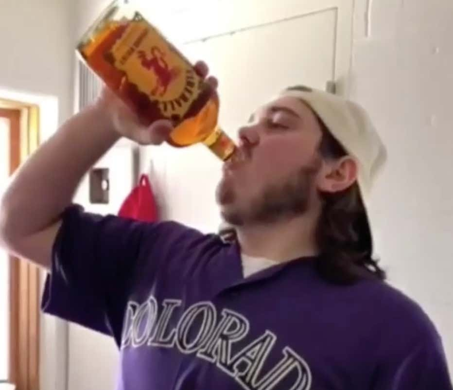 Kid Chugs A Bottle Of Fireball, And Finally, We Get To See