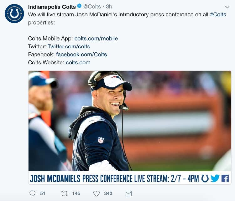 Needless To Say Josh Mcdaniels Turning Down The Colts Is Not Going