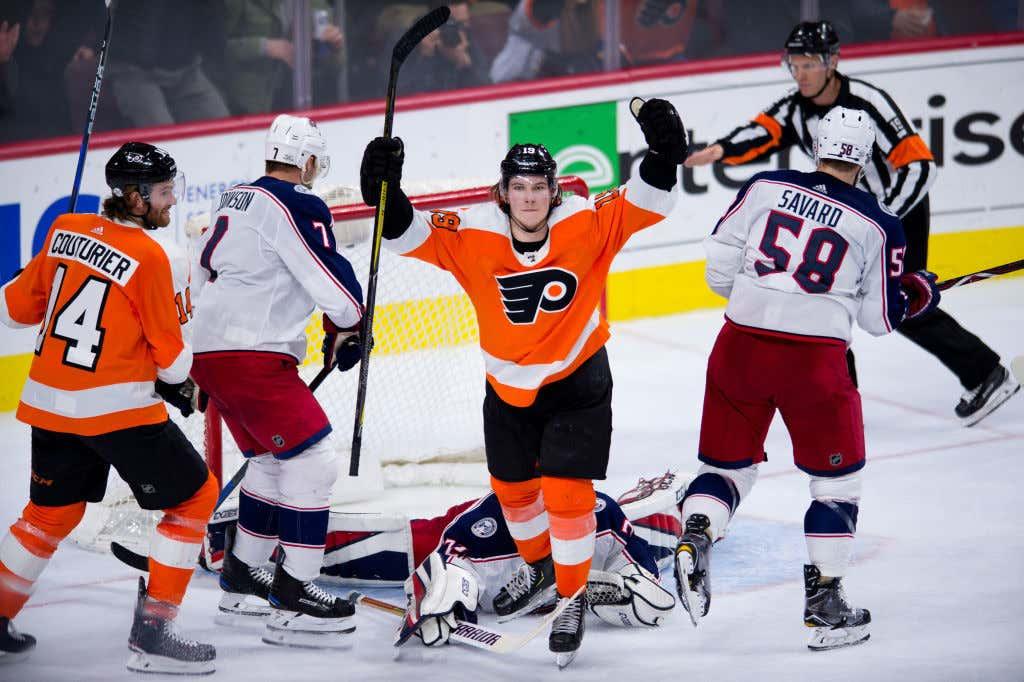 NHL: FEB 22 Blue Jackets at Flyers
