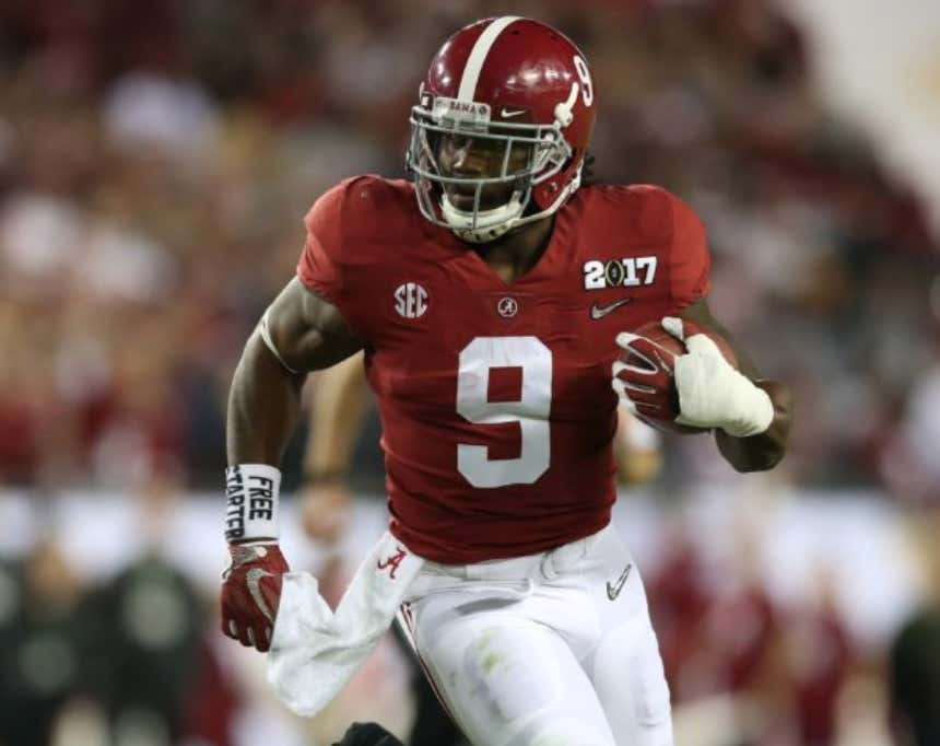 uk availability 64165 efa69 Cleveland Browns Asked Alabama RB Bo Scarbrough If He Thinks ...