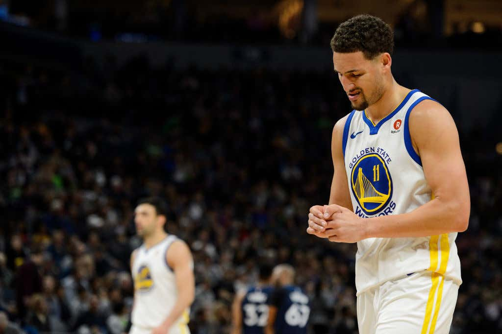 Now Klay Thompson Is Out With A Fractured Thumb - Barstool Sports 9222d1bee