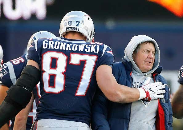 Report Says Belichick Ripped Gronk In Front Of The Whole Team For