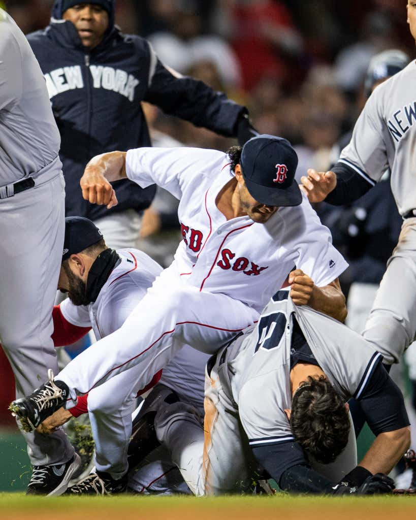 The Red Sox Yankees Rivalry Is Officially Back Tyler Austin Charges Jaket Hoodie New York 02 Abu V Boston