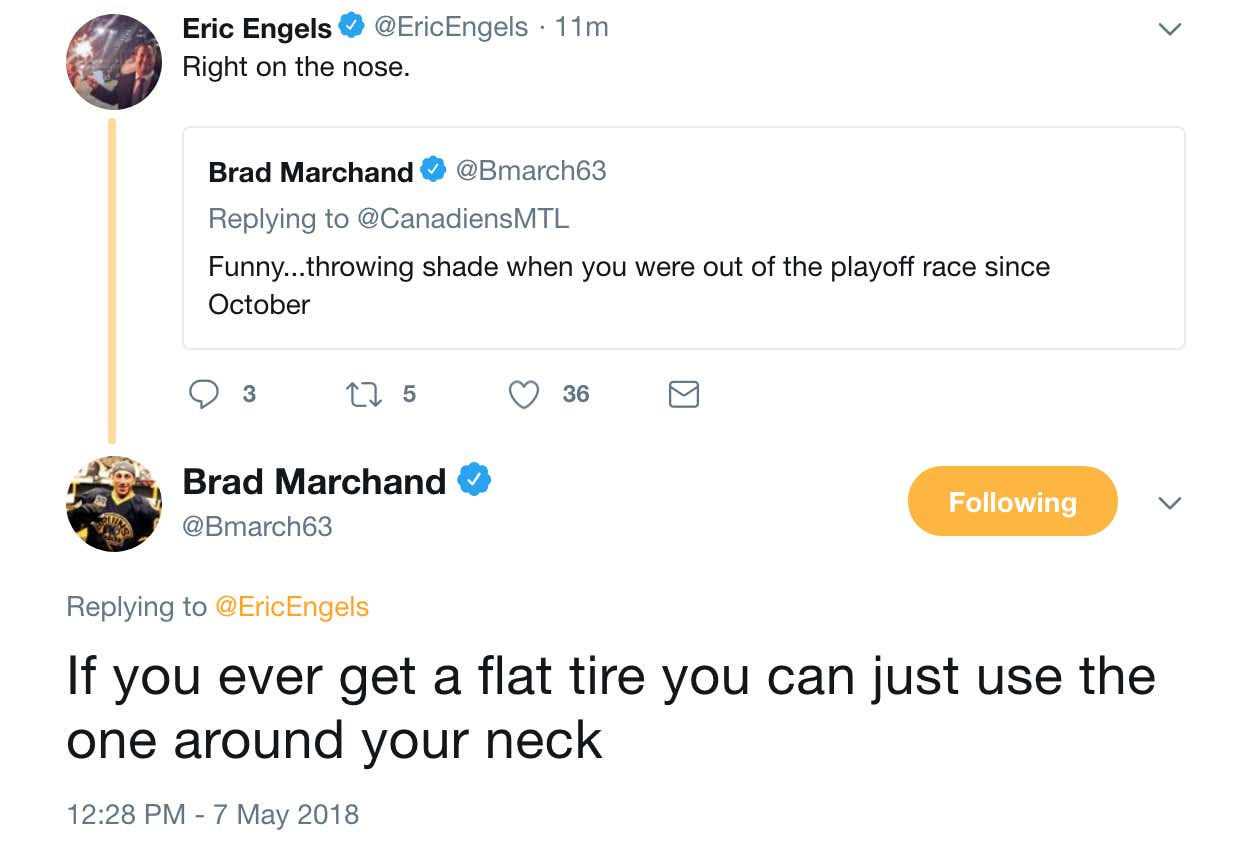 2e0f15e486cb Brad Marchand Is Spending His First Day Of The Offseason Roasting ...