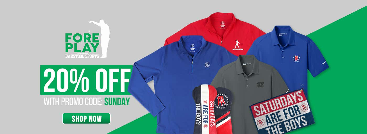 aa7995037 ALL Barstool Golf Merch Now 20 Percent Off With This Promo Code ...