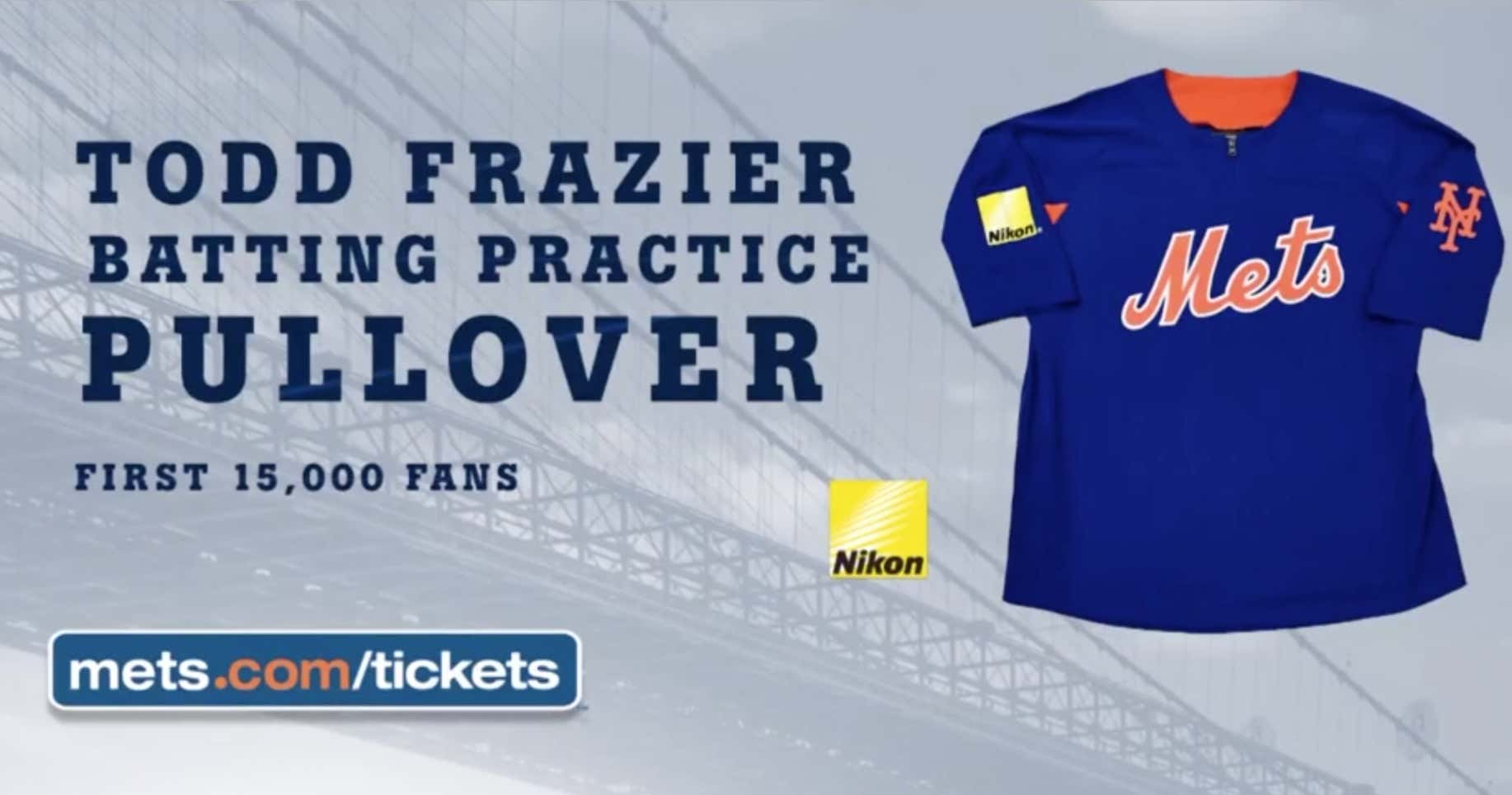 online store c648d 6ace7 The Mets Announced That Tonight's Todd Frazier BP Pullover ...
