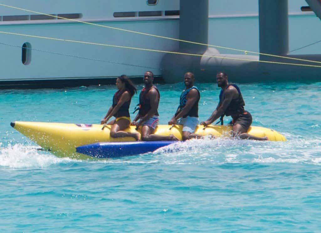 9261b6030545 The Banana Boat Bond Apparently Means Nothing To Lebron - Barstool ...