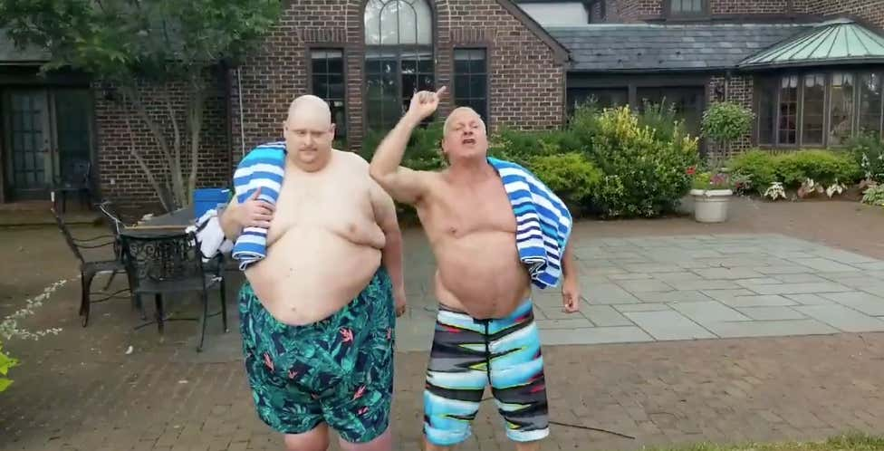 12cd9478c8b49 Frank The Tank and Stu Feiner Went Swimming Together And It's ...