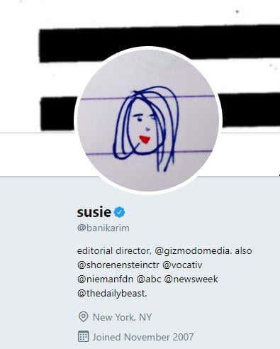 96293b7c6af ... would have posted this picture and made crude comments about Susie s  physical appearance. I maybe would have said that the reason her avatar on  twitter ...