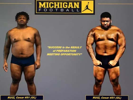Michigan Football's Technique For Before And After Offseason Workouts Photos Will Make You Laugh
