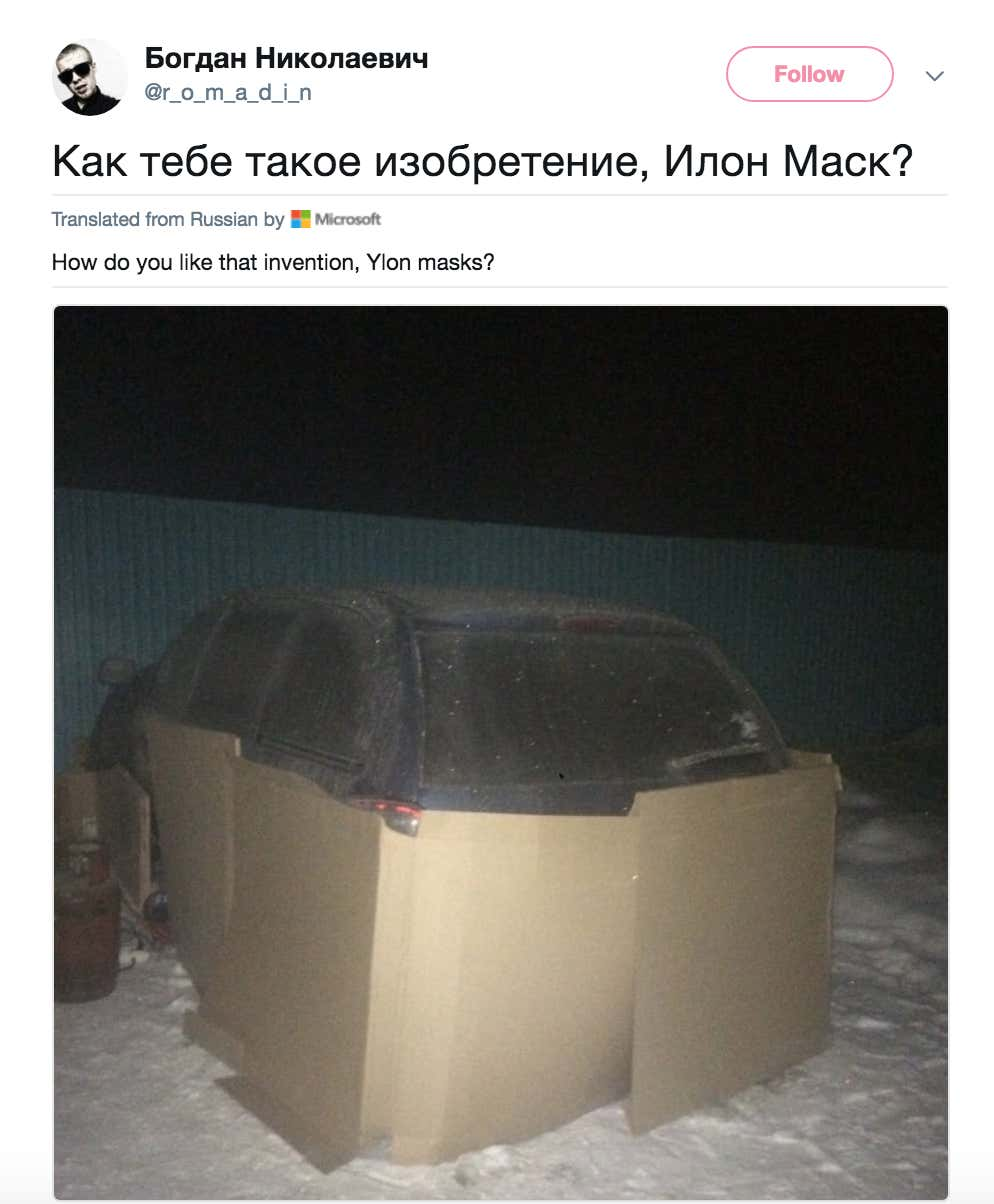 Russians Have Been Mocking Elon Musk For Months With Stupid Lifehack