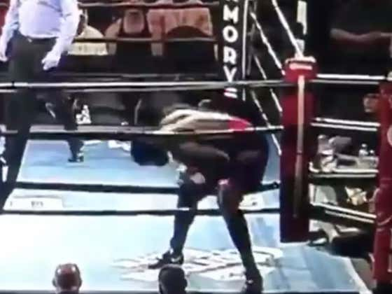 Boxer Walks Out Of Ring And Leaves The Building As Soon As The Bell Rings To Signify The Start Of The Match