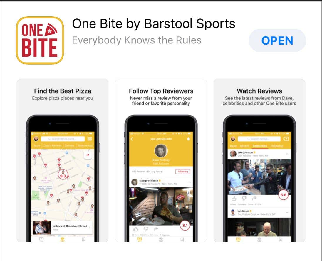 If The One Bite App Doesn't Make It Onto the Top 100 Most