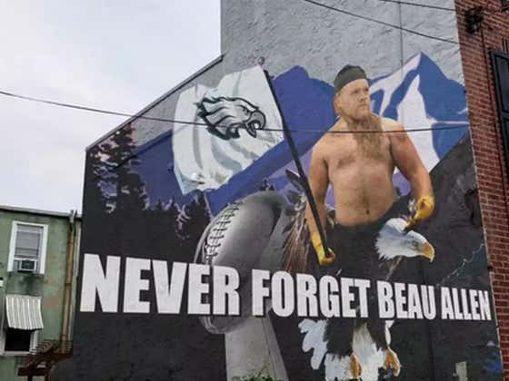 The City Of Philadelphia Deserves This Mural Of A Shirtless Beau Allen