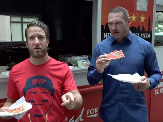 Barstool Pizza Review - Jiannetto's Pizza Truck with Special Guest Brian Urlacher