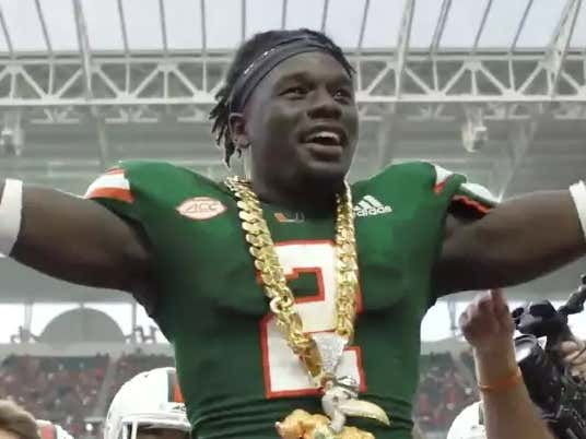 Miami Debuts New Turnover Chain, Covers 61-Point Spread