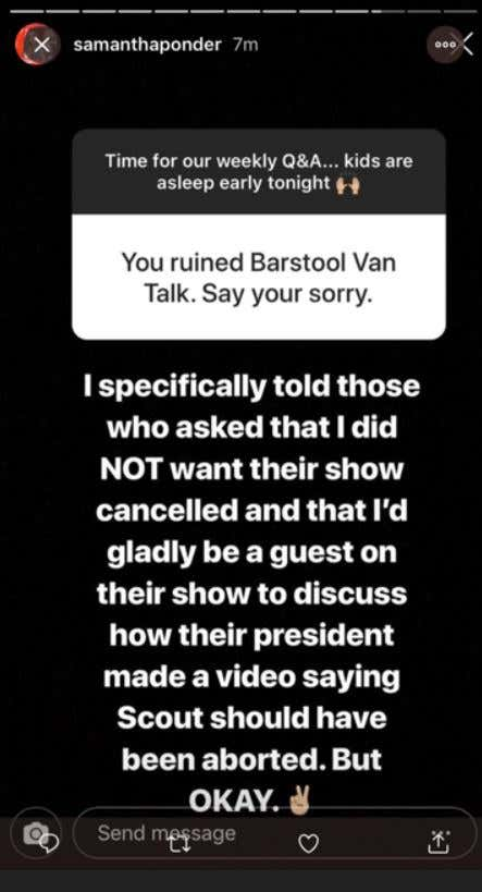 f579c455e So Samantha Ponder posted this today on her Instagram story. Listen I've  never truly hated Sam Ponder for what she did to BVT before today.
