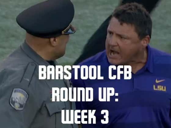 Barstool College Football Round Up - Week 3