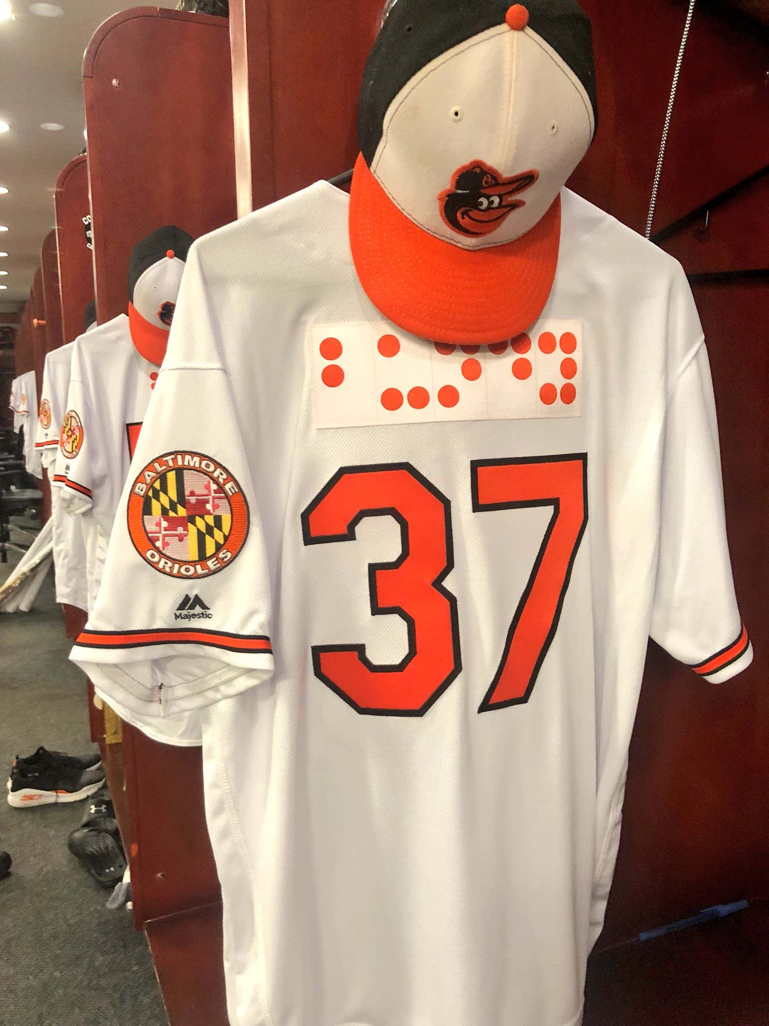 Orioles Wearing Braille Jerseys Tonight - Barstool Sports 023f4187b