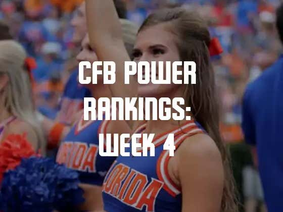 College Football Power Rankings: Week 4